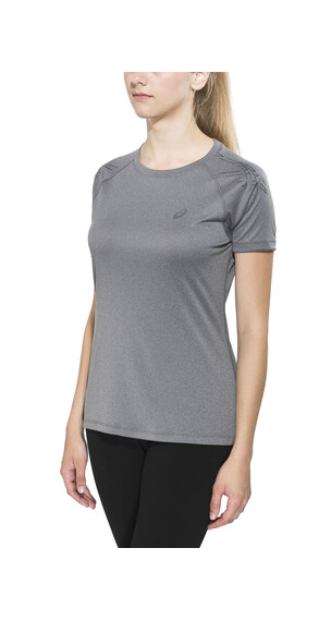 asics Stripe SS Top Women dark grey heather